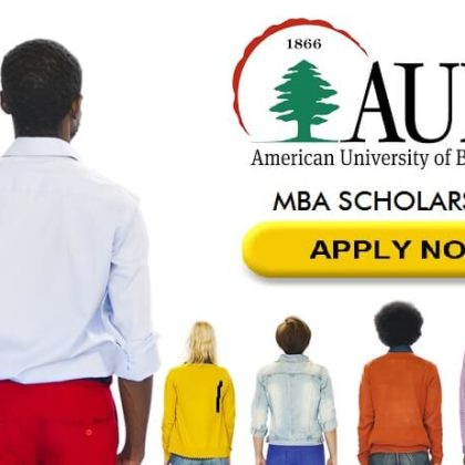 2017 AUB(LEBANON) FULL MBA SCHOLARSHIP. CLOSES May 25th, 2017